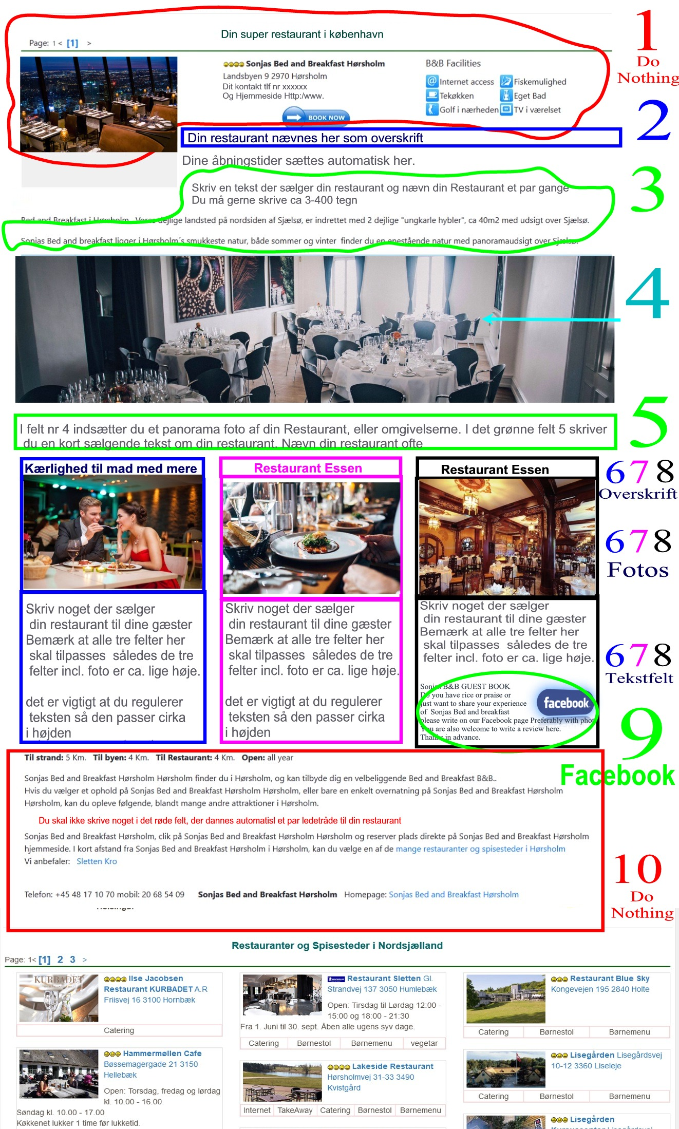 restaurant eller Café  Rooms